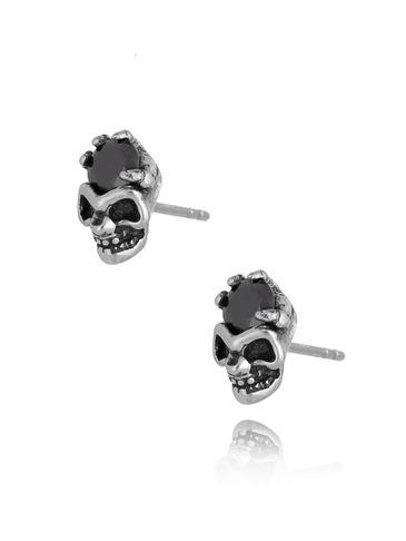 Kolczyki czaszki ze stali szlachetnej KMITC0004