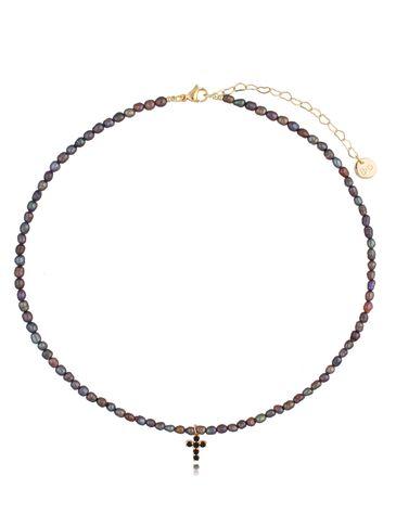 Naszyjnik z ciemnych pereł z zawieszką Morning Pearls NPE0064
